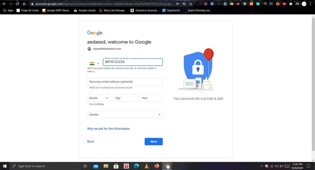 Gmail login with different user