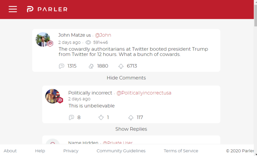 Parler jumps to No. 1 position on App Store after Twitter and Facebook ban Donald Trump